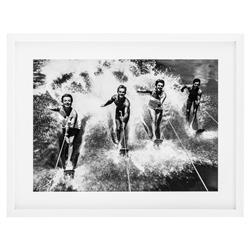 Eichholtz Modern Classic Water Ski Splash Print Wood Framed Wall Art