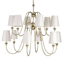 Oberlin Traditional Silver Leaf 12 Light Chandelier