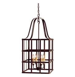 Classic French Country Wrought Iron Frame Chandelier