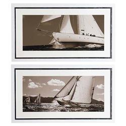Eichholtz Modern Classic Cory Silken Sailing Framed Wall Art Prints - Set of 2