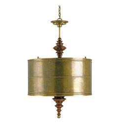 Global Brass Shade Four Light Pendant