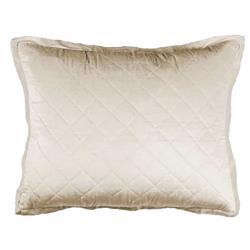 Lili Alessandra Chloe Regency Velvet Pillow - Ivory Standard