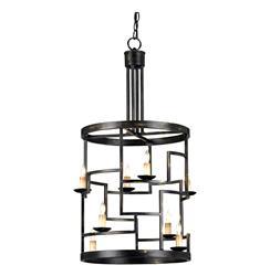 Spigo Mid Century Modern Metal Cylinder 8 Light Pendant Lamp