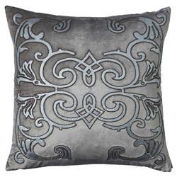 Lili Alessandra Mozart Regency Pillow - Platinum Square