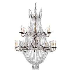 Kingsport Grand Triple Tiered 18 Light Crystal Chandelier