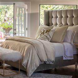 Lili Alessandra Sophia Regency Linen and Gold Bedding Collection