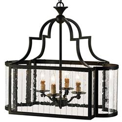 Marion Wrought Iron Rectangle 4 Light Island Lantern