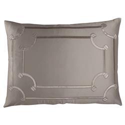 Lili Alessandra Vendome Regency Silk Velvet Border Pillow - Taupe Standard