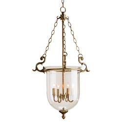Fairfield Classic Hanging Glass Dome 4 Light Lantern Pendant