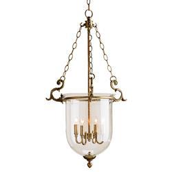 Fairfield Classic Hanging Glass Dome 4 Light Lantern Pendant