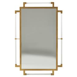 Henry Hollywood Regency Acrylic Gold Frame Mirror