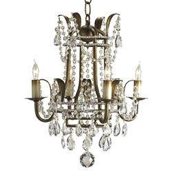 Petite Crystal Droplet 4 Light Chandelier