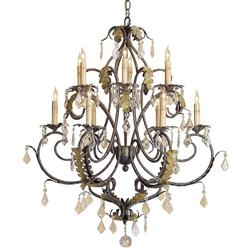 Heirloom Petite Swarovski Crystal 12 Light Chandelier | CC-9571