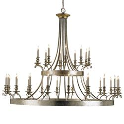 Fairmont Contemporary Silver 30 Light Chandelier