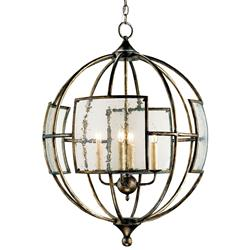 Broxton Seeded Glass 4 Light Orb Chandelier