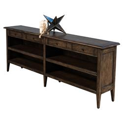 Marta Modern Rustic Dark Brown Oak Wood Media Console Table