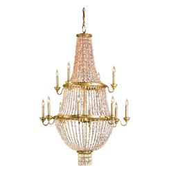 Lou Lou Opera House Gold Leaf 12 Light Crystal Chandelier
