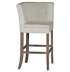 Cooper Tufted Linen Square Back Bar Stool | SCH-150115