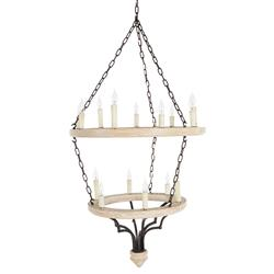 Joselyn Grand 15 Light French Country Cottage Rustic Chandelier
