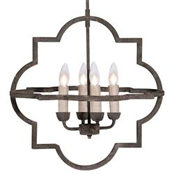 Athena Quatrefoil 4 Light Transitional Pendant Chandelier