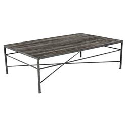 Isabelle Reclaimed Wood Metal Modern Rustic Coffee Table | Kathy Kuo Home