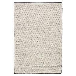 Louis Modern Grey Wool Geometric Pattern Rug - 5' x 8'