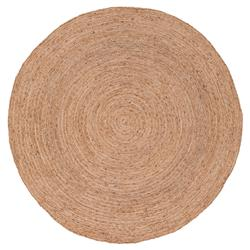 Felix Modern Round Brown Natural Jute Solid Rug - 6' x 6'