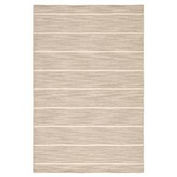 Tucker Modern Grey Beige Wool Striped Rug - 9' x 12'