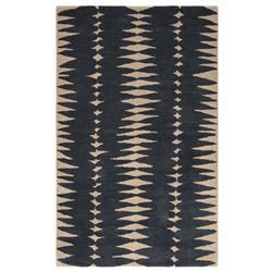 Jaipur Living En Casa Modern Blue Wool Beige Geometric Patterned Rug - 8'x11'