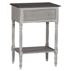 Carine Swedish Gustavian French Delicate Side Table Nightstand | SCH-150200