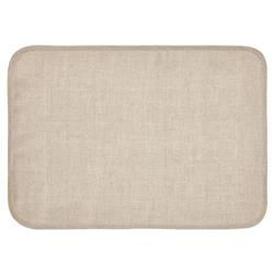 Mode Living Modern Classic Milano Placemats with Metallic Silver Trim - Set of 4