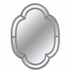 Bardot French Country Quatrefoil Gilded Mirror