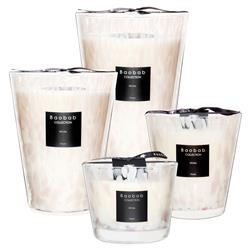 Baobab Collection Modern White Pearls Candle - Small