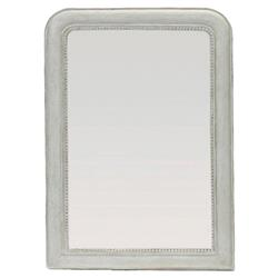 Kathleen Shabby Chic Soft White Elegant Beaded Mirror | SCH-401115