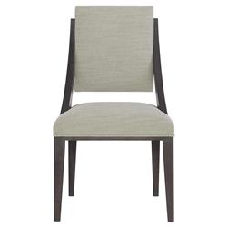 Dean Modern Masculine Grey Upholstered Dark Brown Oak Dining Side Chair