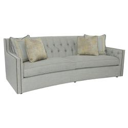 Brody French Country Tufted Grey Upholstered Sofa