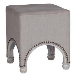 Maurice Arched Base Line French Country Footstool