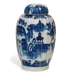 Summer Palace Chinese Hand Painted Blue White Ginger Jar | P68-ACAS-154-03
