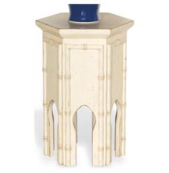 "Algiers Moroccan Style Contemporary Tea Accent Table Ivory 23""H 