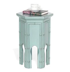 "Algiers Moroccan Contemporary Tea Accent Table Turquoise Blue 23""H"
