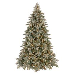 Rhys 7.5ft Frosted Spruce Snowy Christmas Tree Real Feel with 750 Clear Lights