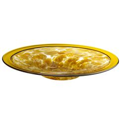 Catalan Amber Honey Glass Center Plate Bowl