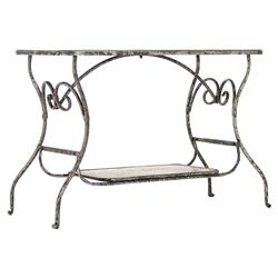 French Art Nouveau Style Iron Scroll Metal Desk