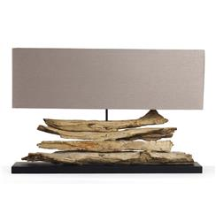 Riverine Natural Driftwood Modern Rustic Long Console Lamp