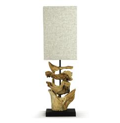 Oragon Root Natural Driftwood Modern Square Table Lamp