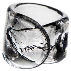 Simon Pearce Modern Classic Ascutney Glass Napkin Ring - Set of 6