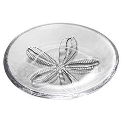 Simon Pearce Modern Classic Medium Sand Dollar Glass Plate