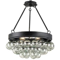 Pastis Blown Glass Balls Modern 3 Light Ceiling Mount