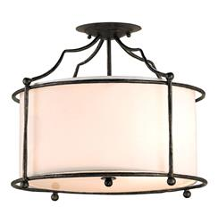 Old Bronze Contemporary 3 Light Ceiling Mount Light