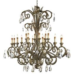 Requena Crystal Accent Large 18 Light Chandelier | CC-9632